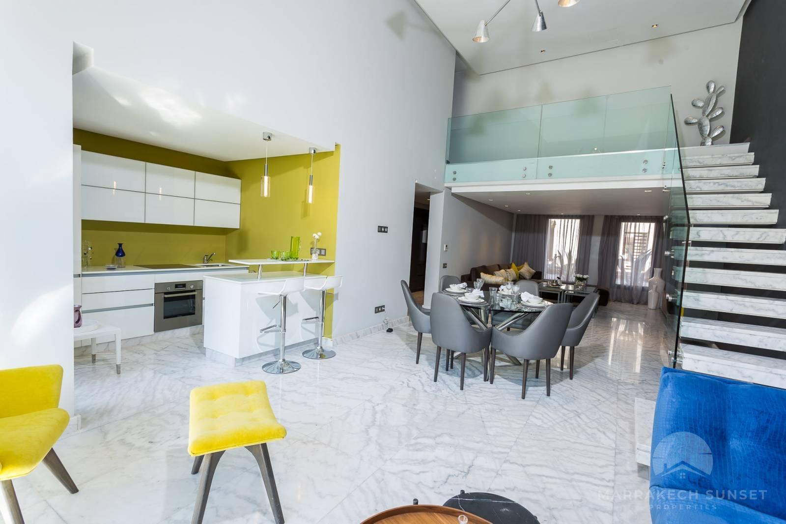 Luxury 2 bedroom Loft apartment for sale in Marrakech
