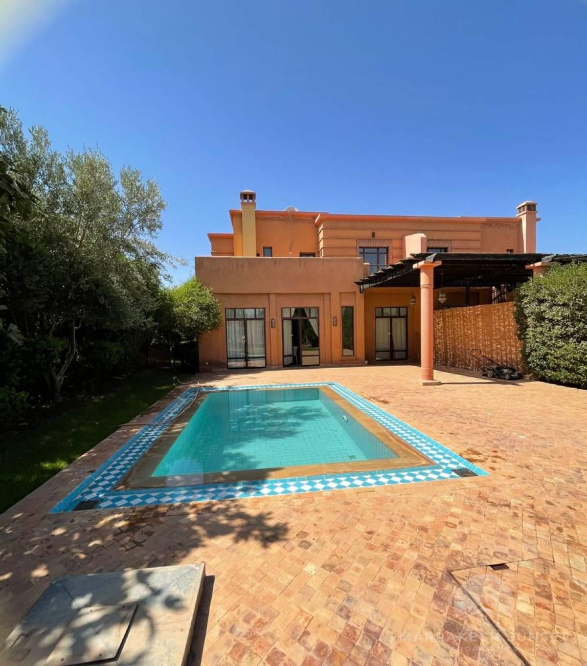 Luxury villa rental Marrakech On a golf course with 3 bedrooms