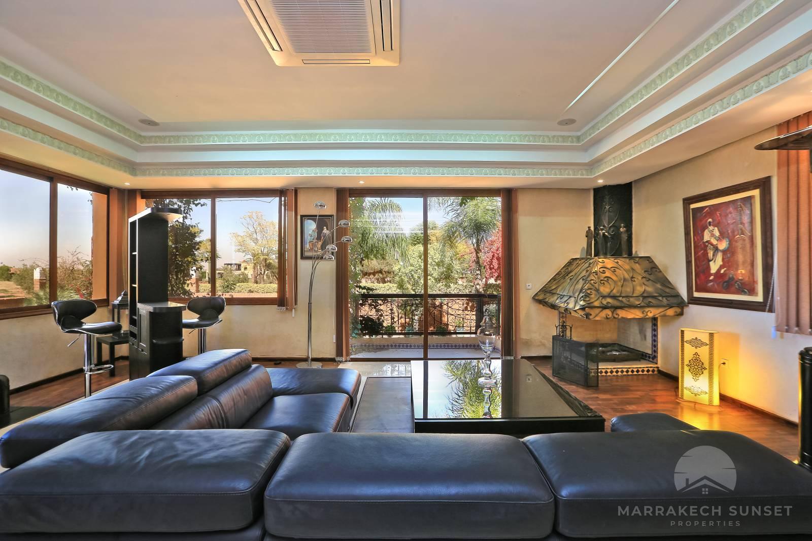 8 bedroom villa for sale Marrakech Amelkis golf club
