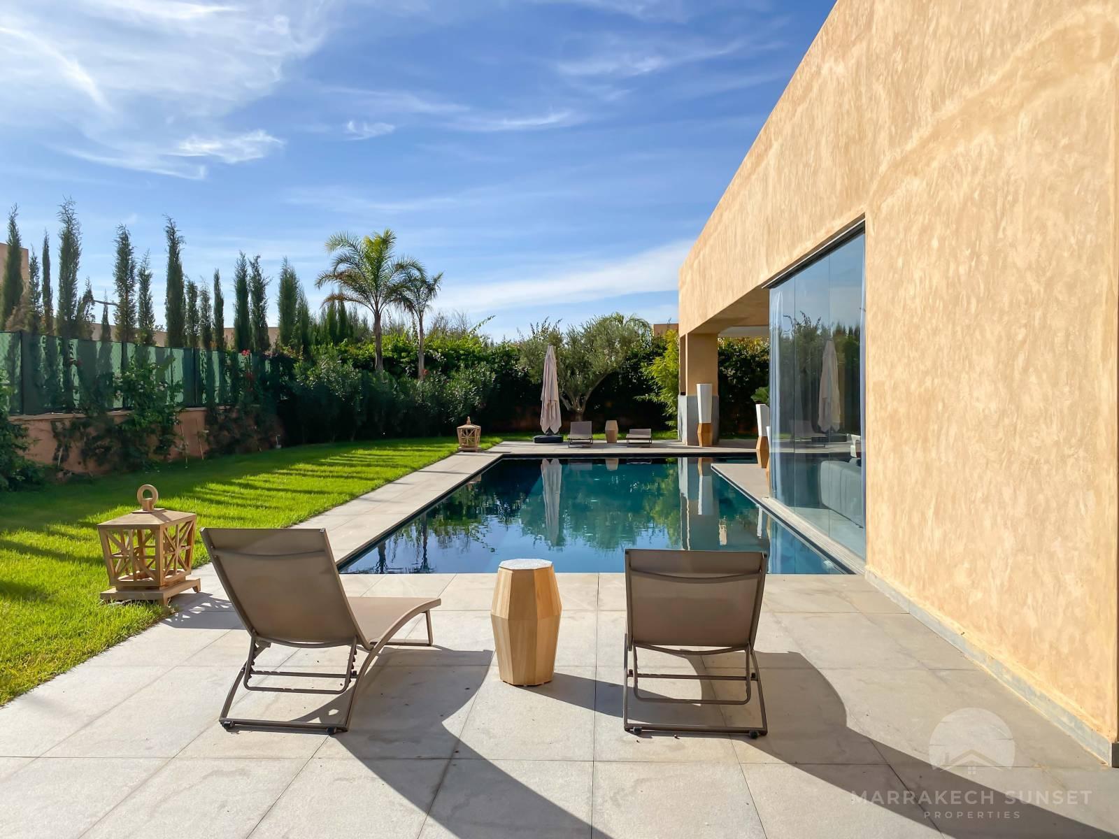 Premium 5 bedroom Luxury villa for sale in a private domain Marrakech