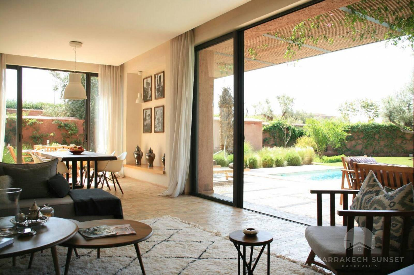 Luxury villa for sale located in one of the most prestigious residential & golf complex in Marrakech.